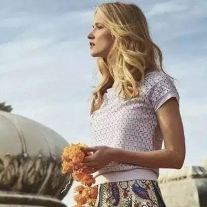 Anthropologie Weston Dara lilac blouse